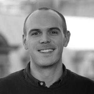 Martin Grøndahl, sort/hvitt portrettfoto