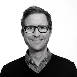 Portrettfoto sort-hvitt av Peder Mittet, CEO Publicis Norway