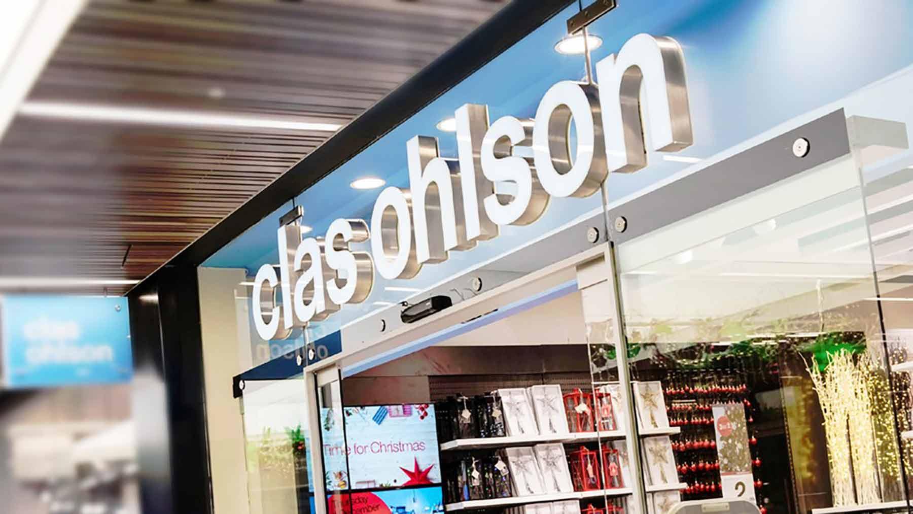 """Butikkfront for Clas Ohlson. Butikkene opplevde økning av besøk etter omlegging fra DM til """"digital DM"""", et prisvinnende case."""