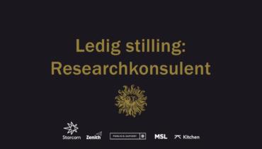 Ledig stilling: Researchkonsulent (Zenith, Starcom, Sapient, Kitchen, MSL)